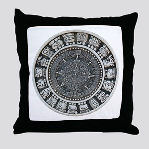 Aztec Mayan Sun Dial Throw Pillow