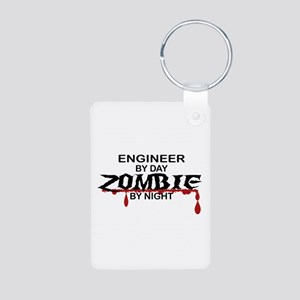 Engineer Zombie Aluminum Photo Keychain