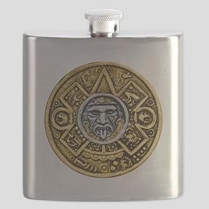 Gold Silver Sun Dial Flask