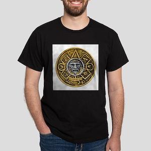 Gold Silver Sun Dial Dark T-Shirt