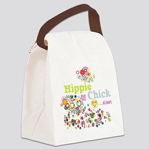 Hippie Chick at Heart Canvas Lunch Bag