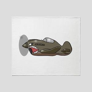 Flying Tiger Throw Blanket