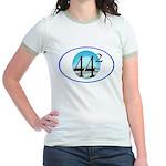 44 squared. Obama is President. Jr. Ringer T-Shirt