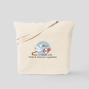 Stork Baby Can Pol Ukr Tote Bag