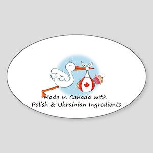 Stork Baby Can Pol Ukr Sticker (Oval)