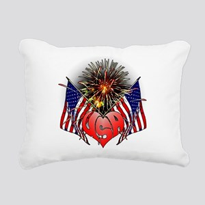 Celebrate America 3 Rectangular Canvas Pillow