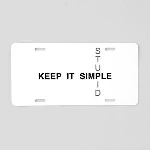 Keep it simple. Stupid. Aluminum License Plate
