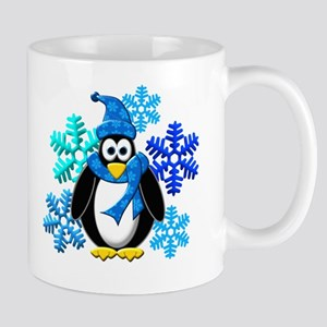 Penguin Snowflakes Winter Design Mug