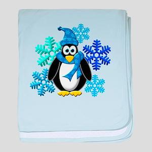 Penguin Snowflakes Winter Design baby blanket