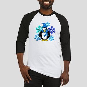 Penguin Snowflakes Winter Design Baseball Jersey
