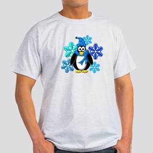 Penguin Snowflakes Winter Design Light T-Shirt