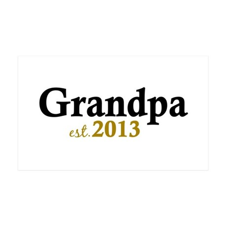 New Grandpa Est 2013 35x21 Wall Decal