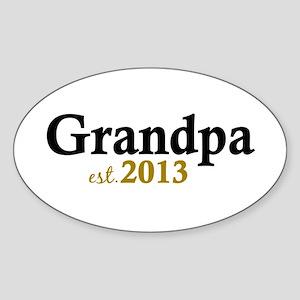 New Grandpa Est 2013 Sticker (Oval)