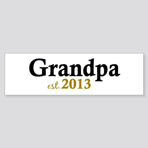 New Grandpa Est 2013 Sticker (Bumper)