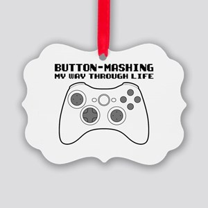 Button Masher Picture Ornament