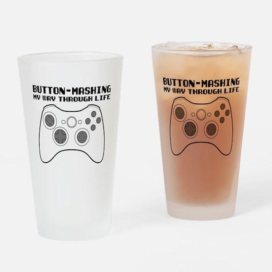 Button Masher Drinking Glass