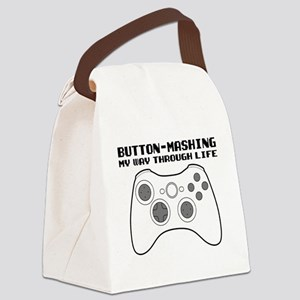 Button Masher Canvas Lunch Bag