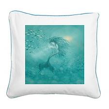 Mermaid Square Canvas Pillow
