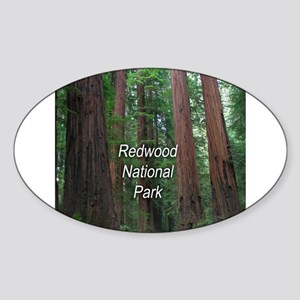 Redwood National Park Sticker (Oval)