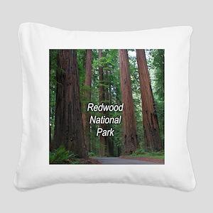 Redwood National Park Square Canvas Pillow