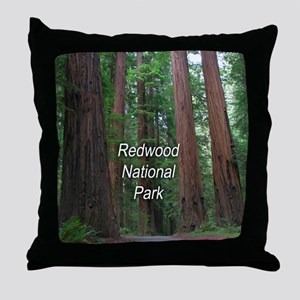 Redwood National Park Throw Pillow