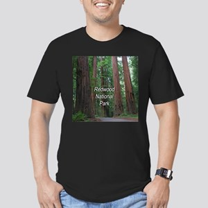 Redwood National Park Men's Fitted T-Shirt (dark)