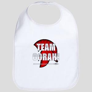 Team Oorah white logo Bib