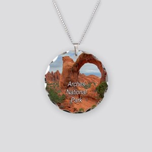 Arches National Park Necklace Circle Charm