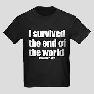 I survived the Maya Doomsday Kids Dark T-Shirt