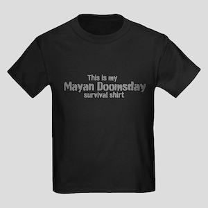 Mayan Doomsday survival shirt Kids Dark T-Shirt
