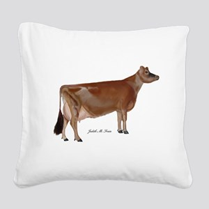 Jersey Cow Square Canvas Pillow