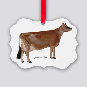 Jersey Cow Picture Ornament