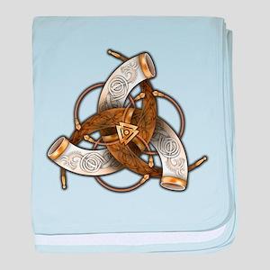 Odin's Triple Horns baby blanket