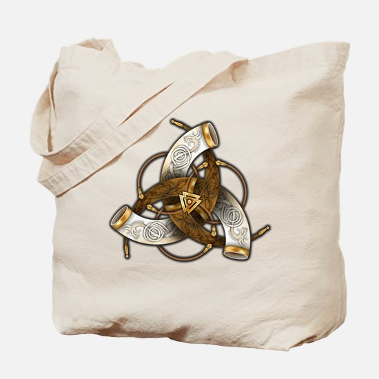 Odin's Triple Horns Tote Bag