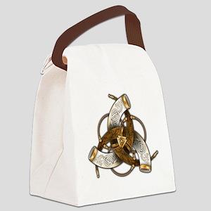 Odin's Triple Horns Canvas Lunch Bag