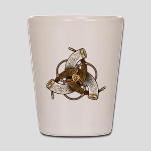 Odin's Triple Horns Shot Glass