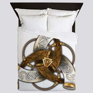 Odin's Triple Horns Queen Duvet