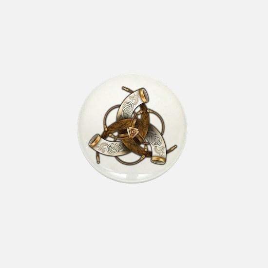 Odin's Triple Horns Mini Button