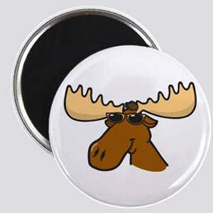 moose with sunglasses Magnet