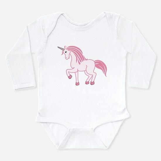 Pink Unicorn Long Sleeve Infant Bodysuit