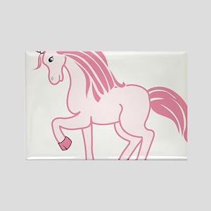Pink Unicorn Rectangle Magnet