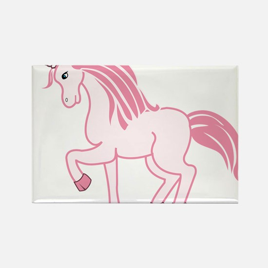 Pink Unicorn Rectangle Magnet