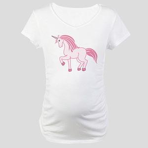 Pink Unicorn Maternity T-Shirt