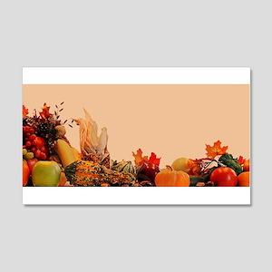 Cornucopia For Thanksgiving 20x12 Wall Decal