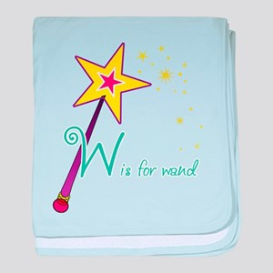 W is for Wand baby blanket