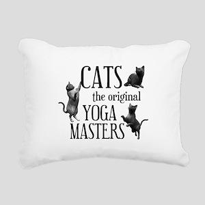 Cat Yoga Rectangular Canvas Pillow