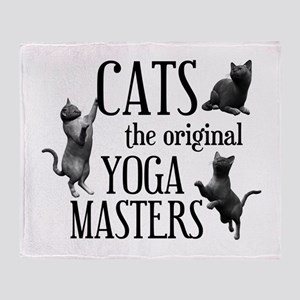 Cat Yoga Throw Blanket