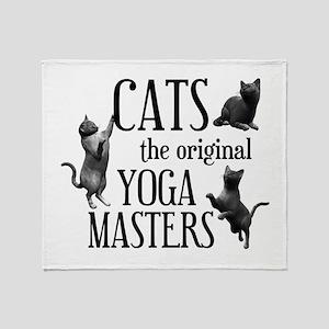 Cat Yoga Throw Blanket