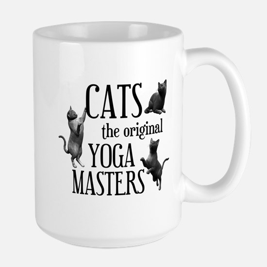 Cat Yoga Large Mug