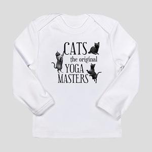 Cat Yoga Long Sleeve Infant T-Shirt
